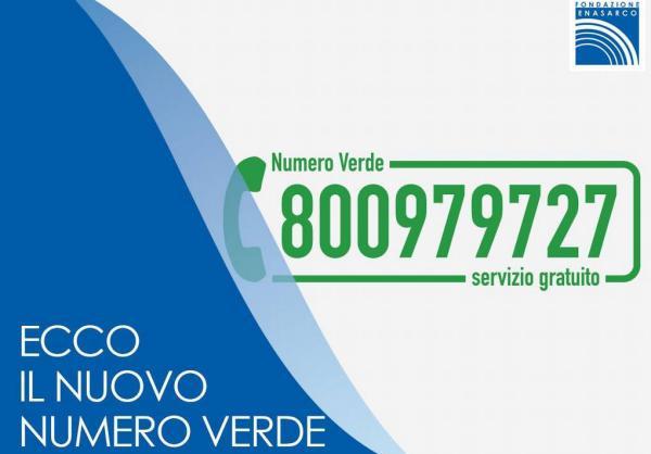 fondazione enasarco nuovo numero verde