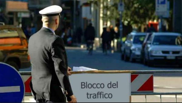 blocco del traffico cesena
